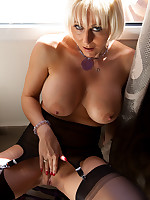 Jan Burton Hot British MILF In Stockings And Pantyhose Sex