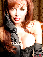 Sexy Vanessa in Black Gloves