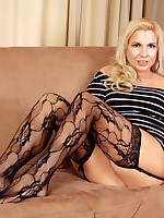 Jessica Taylor tease you in a short dress and stockings