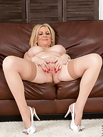 Hot blonde mommy Alexia Blue in lingerie