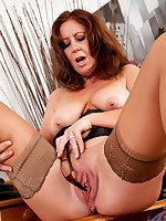 (gallery url), Redhead milf teases her cock hungry pussy (gallery description)