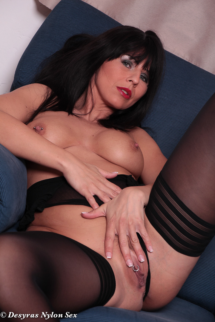 Hot mom in stockings