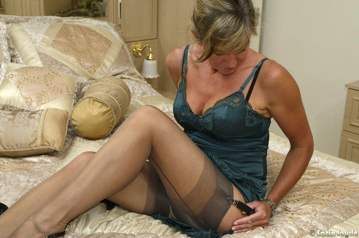 Mature satin panties